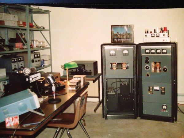 WJDI's 2,500 watt transmitter, 1991
