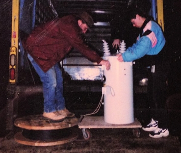 The 300 pound transformer used for the 15kw 1996 broadcast